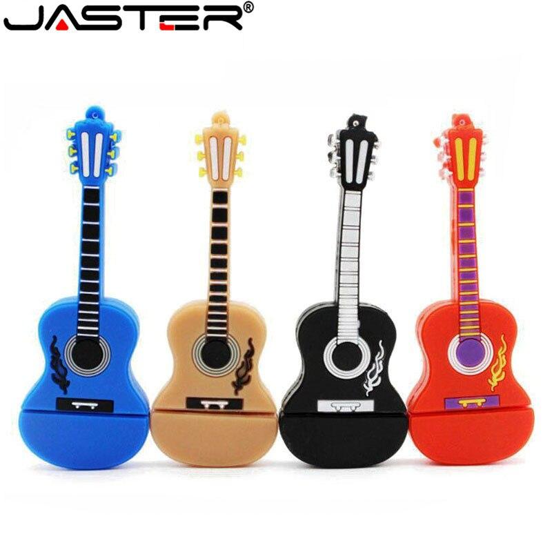 JASTER® Wooden Guitar USB Flash Drive Music Pendrive 4GB 8GB 16GB 32GB Memory