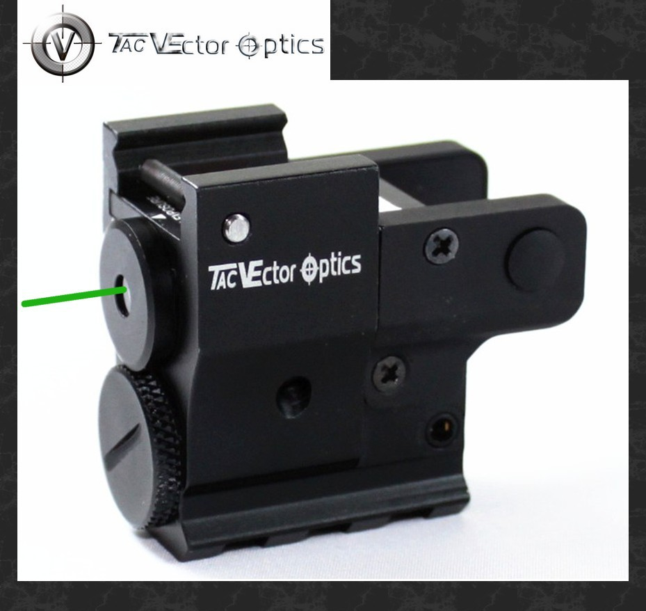 Vector Optics Twilight Compact Pistol Handgun Green Laser Sight with Wire Cable Switch fit 20mm Rails for Glock 17 vector optics blackout tactical pistol handgun weapon flashlight with green laser dot sight fit 20mm weaver rail for glock 17 19