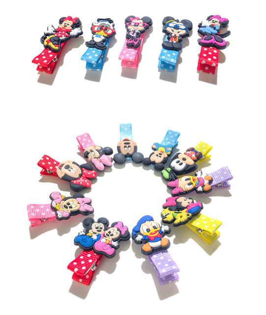 1pcs Mickey Cartoon Dot Print Hairpins Hair Clips Cute Minnie Hair Accessories for Baby Girls Hair Protect Headwear Kid Gifts