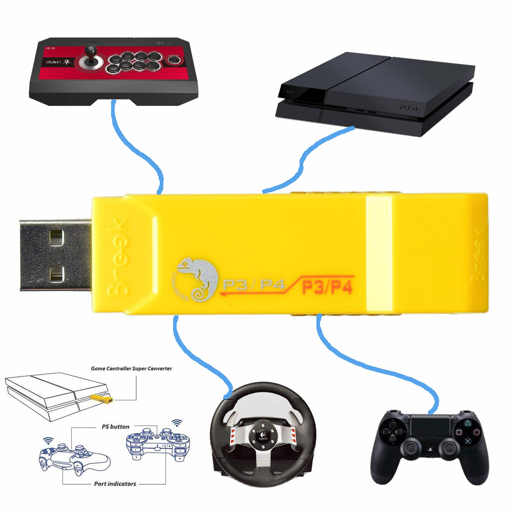 US $46 99 20% OFF|Brook for PS3 for PS4 Controller to for PS3/PS4 Gaming  Adapter Super Converter for Logitech G27/G29 GT-in Replacement Parts &