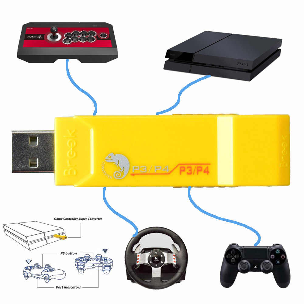 1975130567a Brook for PS3 for PS4 Controller to for PS3/PS4 Gaming Adapter Super  Converter for