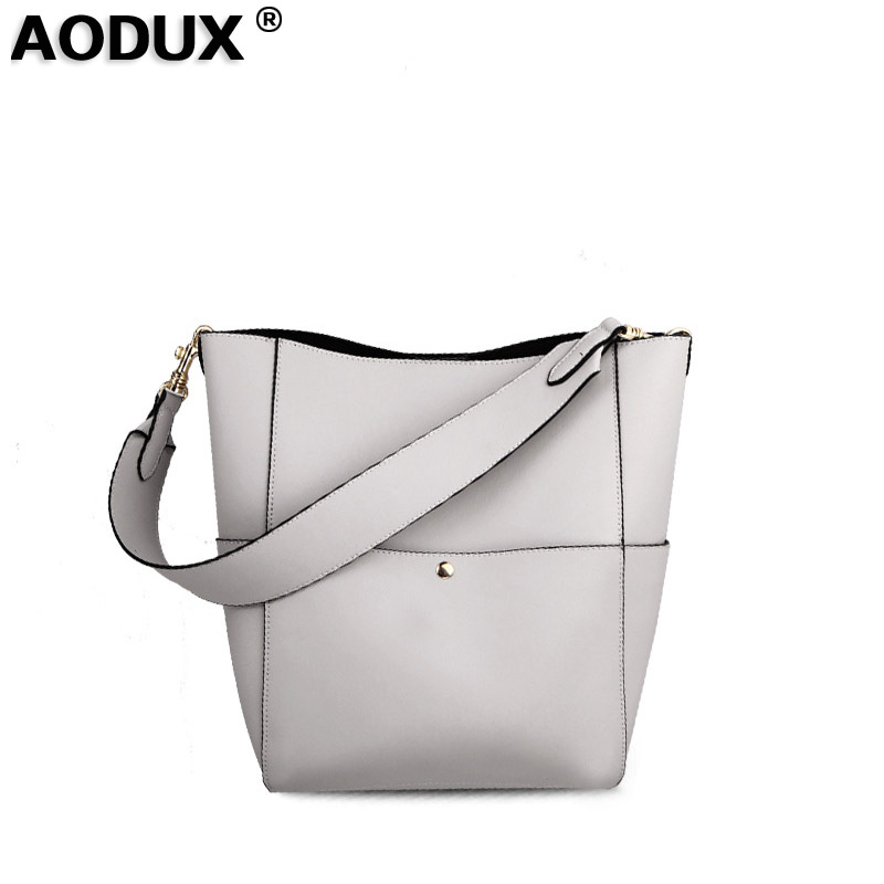 AODUX New Fashion Second Layer Oil Wax Cow Leather Women Tote Bags Woman Handbags Genuine Leather Female Bags Girls 2017 spring and summer new women genuine leather handbags fashion litchi grain first layer of leather bags female shoulder bags