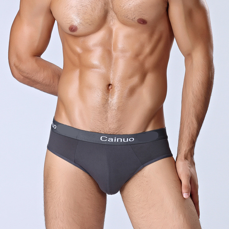 Men's underwear large size sexy fashion youth men's briefs stretch comfortable breathable front convex underwear male L-5XL