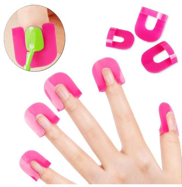 26Pc/set Nail Polish Varnish Protector Holder Manicure Finger Nail Art Design Tips Cover Shield Tools UV Gel Nails Design