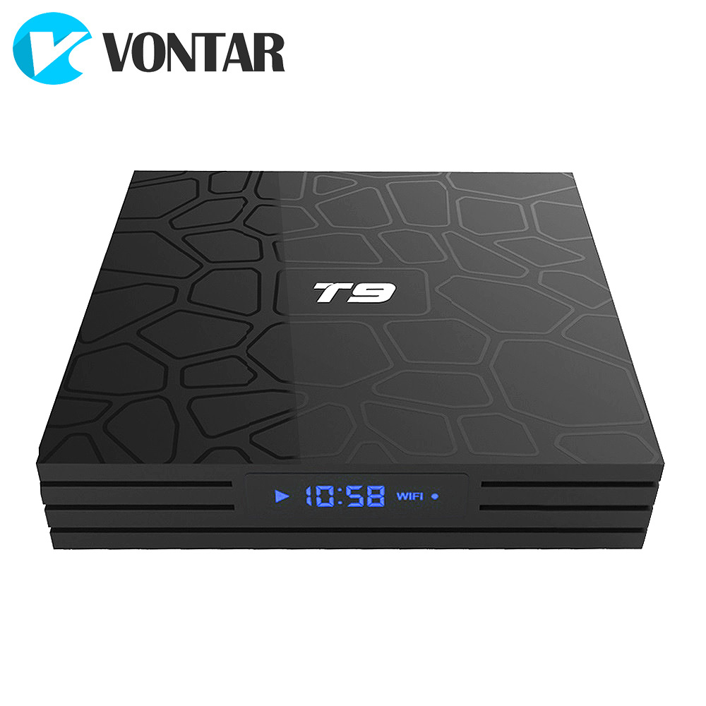 2018 VONTAR T9 Smart TV Box Android 8.1 4 gb 32 gb 64 gb Rockchip RK3328 1080 p H.265 4 karat google Player Shop Netflix Youtube