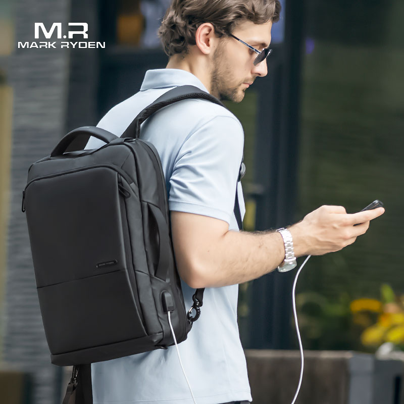 Mark Ryden Travel Backpack Large Capacity Teenager Male Mochila Anti-thief Bag USB Charging 15.6 Inch Laptop Backpack Waterproof