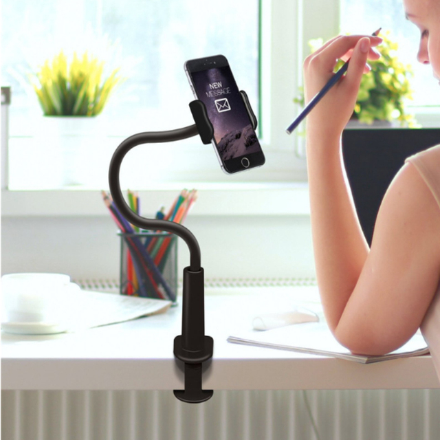 Universal Swan Neck Office Phone Holder Flexible Lazy 360 Adjustable Long  Arm Phone Stand For Iphone