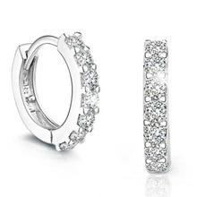 цена 100% 925 sterling silver fashion shiny crystal star ladies`stud earrings jewelry women Anti allergy drop shipping gift cheap в интернет-магазинах