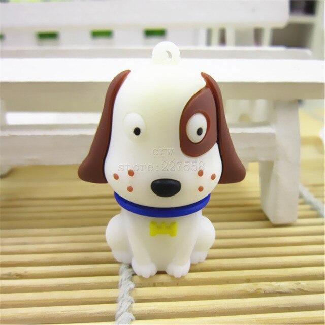 White cute dog 8gb/16gb/32gb/64gb usb 2.0 flash drive