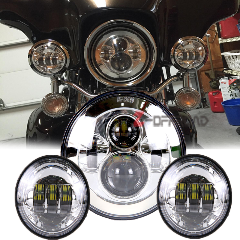 7 Quot Motorcycle Led Headlight Bulb Replacement Projector