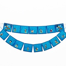 1pc/set Micky Mouse Party Pennant Bunting Birthday Flag Banners Kids Cartoon Supplies Decoration flag