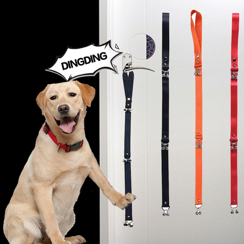 Pet Dog Belts Home Safety Door Bell Candy Color Nylon Puppy