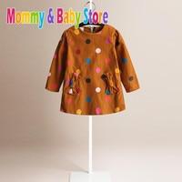 3 Color Styles Girls Thanksgiving Dot Corduroy Dress Girl S Plaid Dresses Children Clothing Princess Dress