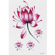 Peaceful Lotus Waterproof Temporary Tattoo Stickers For Shoulder Decoration #r116
