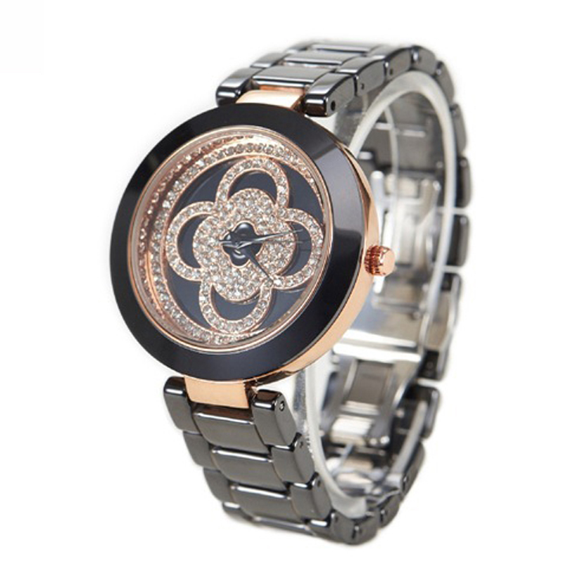 New Black Ceramic Watches Women Quartz Watches Ladies Fashion Watch Top Brand Luxury Bracelet Watch Waterproof Relogio Feminino new luxury ceramic watches men s quartz watch ladies fashion brand watches women s bracelets watch rose gold relogio feminino