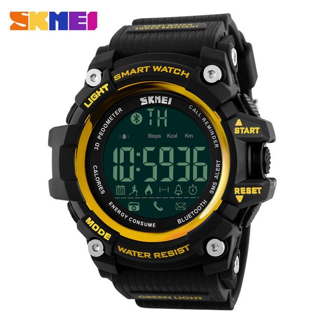 Top marca de luxo bluetooth smart watch homens esportes militares relógios de calorias pedômetro digital levou ao ar livre masculino relogio masculino