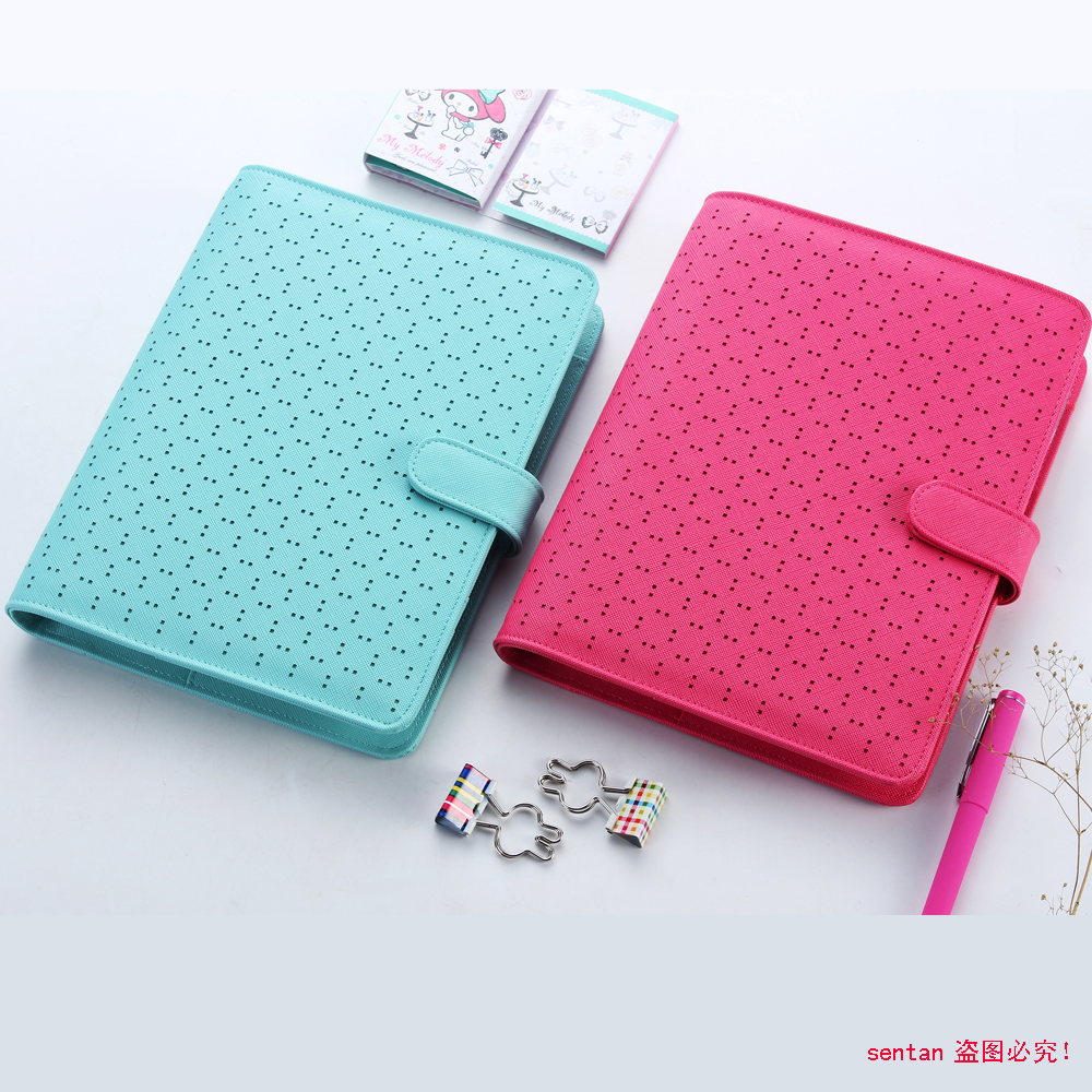 Creative leather spiral notebook fine personal agenda for Home planning binder