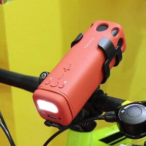Image 2 - חדש חיצוני רמקול רכיבה על אופניים נייד אלחוטי Bluetooth רמקול עם חירום כוח טעינה חזק אור פנס רמקולים