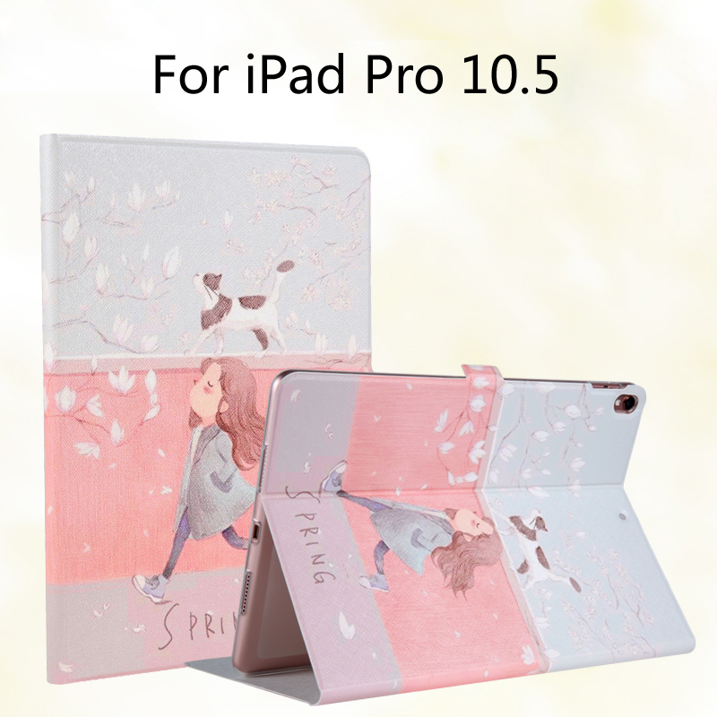 New 2017 Fashion Painted Flip PU Leather For iPad Pro 10.5 inch Tablet Case Cover + Stylus + Film case cover for goclever quantum 1010 lite 10 1 inch universal pu leather for new ipad 9 7 2017 cases center film pen kf492a