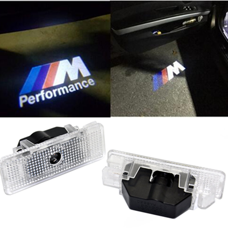 kanuoc No Drilling Car LED Ghost Shadow Projector Laser Courtesy Logo Light For BMW E39 E53 X5 car styling welcome logo light for most cars 2pcs led car door light courtesy logo laser projector punching ghost shadow lamp lights for cadillac logo