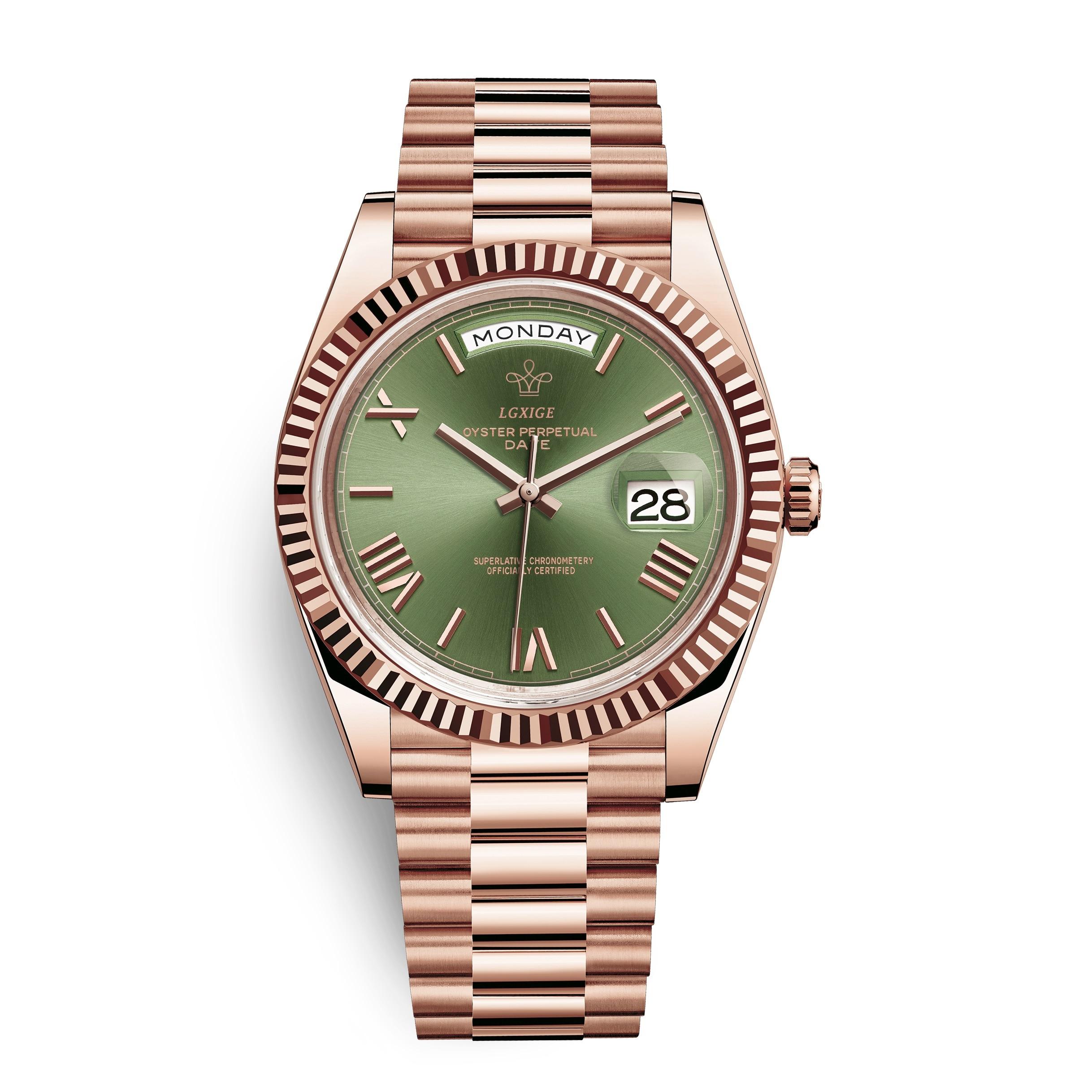LGXIGE Original Marca Assista Men Top Luxo daydate 3atm Impermeável Homens de Negócios de Aço Inoxidável Relógio de Pulso Relógios LM021A