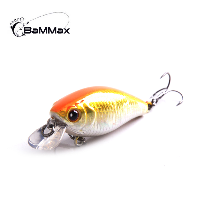 Bammax 3.6g 4.7cm Fishing Lure Minnow Hard Bait with Fishing Hooks Lifelike Swimbait Wobblers Crankbait fly fishing tackle Pesca amlucas minnow fishing lure 110mm 9 5g crankbait wobblers artificial hard baits pesca carp fishing tackle peche we266