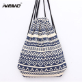 National Canvas Drawstring Backpack Vintage Ethnic School Bagpack Bookbag Cotton Drawstring Shoe Bags Mochila Feminina