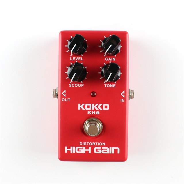 KH8 High Quality Guitar Distortion High Gain Electric Effect Pedal True Bypass Red Durable Guitar Parts & Accessories
