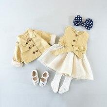 Baby Girl Windbreaker Trench Coats for Girls Toddler Girl Trench Coat England Coat Kids Atummn Long