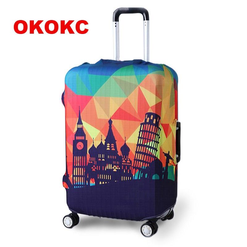 Funda protectora para maleta de viaje más gruesa OKOKC para funda de maletero se aplica a 19 ''-32'' funda de maleta elástica perfectamente