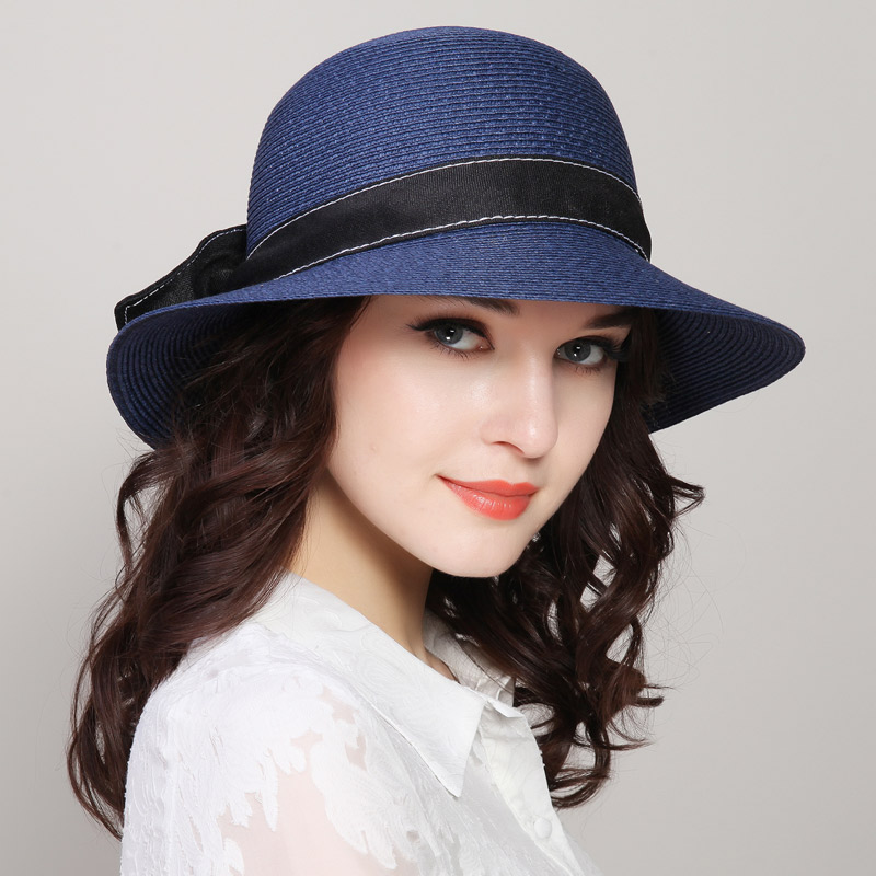 New Arrival Sun Beach Hat Women Outside Travel Cap Folding Fisherman Hat Basin Straw Hat Students Outside Travle Sun Cap B-7843