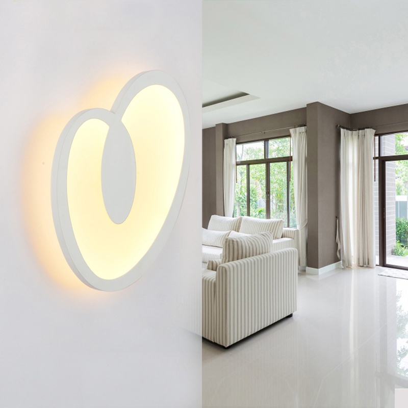 SINFULL ART 12W 16w Modern Led Wall Light Bedroom Living Room Sconce Acrylic Home Decoration Led Lamp AC85-265V Indoor Fixtures whtie acrylic leaf 15w led wall sconces modern wall lights living room bedroom home decoration lighting light fixtures wall lamp