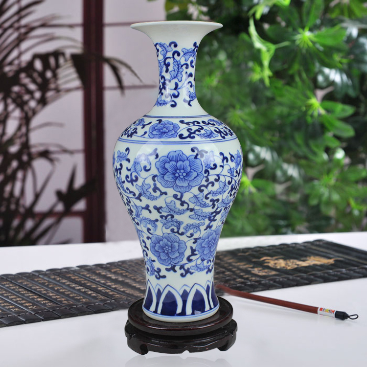 hand-painted antique vase of blue and white beauty tips living room decoration decoration Home Furnishing bottle