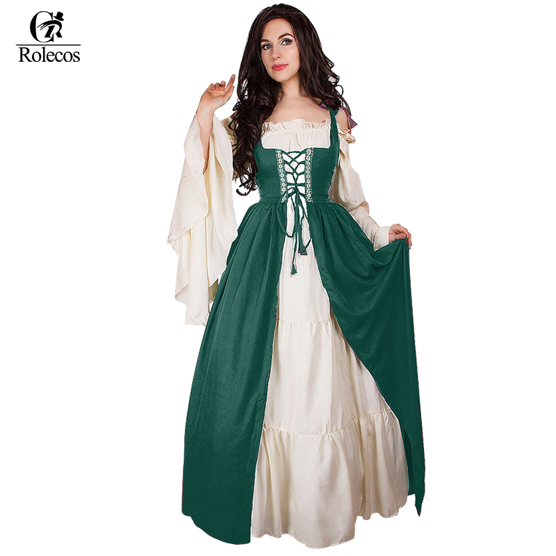 womans renaissance victorian medieval gothic long dresses for halloween ball gowns costumes gothic evening dresses - Halloween Costumes Victorian