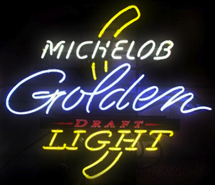 Michelob Golden Light Glass Neon Light Sign Beer Bar