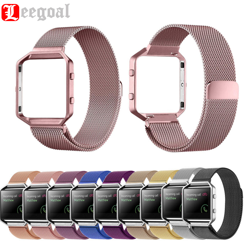 Milanese Magnetic Loop Stainless Steel Watchband For Fitbit Blazed Metal Frame 2 in 1 For Fitbit Blazed Wrist Strap Watch Band milanese loop watchband for fitbit charge 2 smart watch band stainless steel strap magnetic buckle wrist bracelet black silver