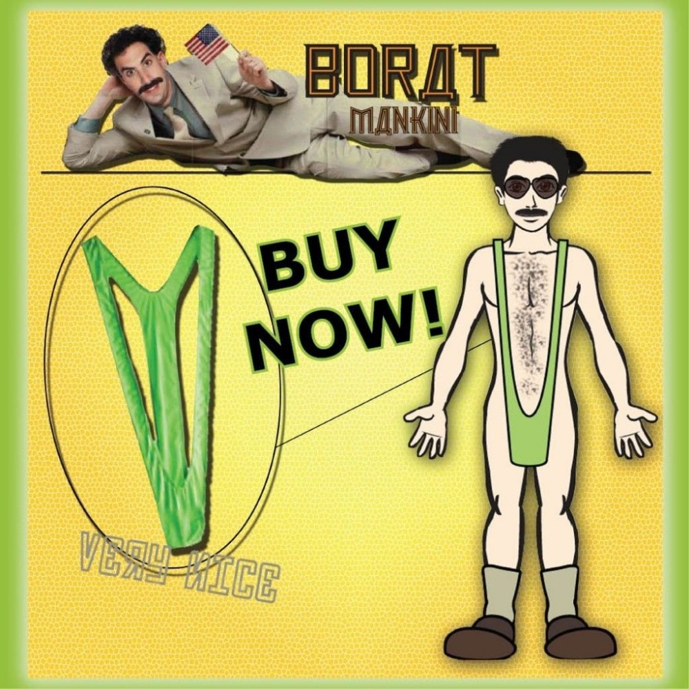 ce27c4f075 BORAT MANKINI LIME GOLD SWIM THONG STAG DO FANCY DRESS SWIMMING COSTUME FUN  on Aliexpress.com | Alibaba Group