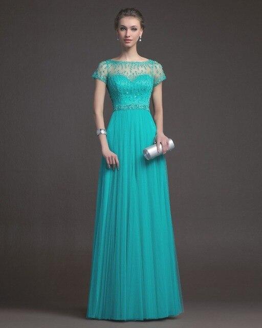 8890ee343732 € 130.22 |OMYE0086 avondjurk de manga corta con cuentas vestido de noche  largo vestido de noche verde esmeralda en Vestidos de noche de Bodas y ...