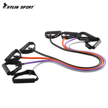 купить New Hot Sale Resistance Bands 4pcs Workout Exercise Pilates Pull Rope Yoga  Fitness Tubes дешево