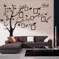 94AB New 200 250cm Black Removable Memory Tree Photo Tree Foreign Trade Wall Sticker