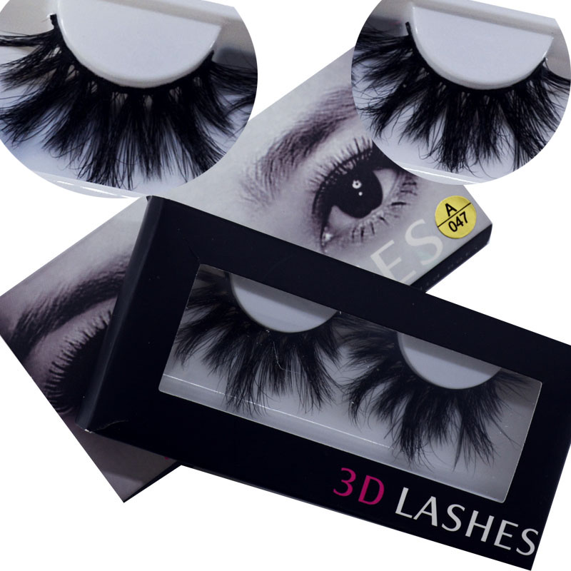 100% Mink Eyelashes False Eyelashes Criss-cross Natural Fake lashes Length 25mm Makeup 3D Mink Lashes Extension Eyelash Beauty(China)
