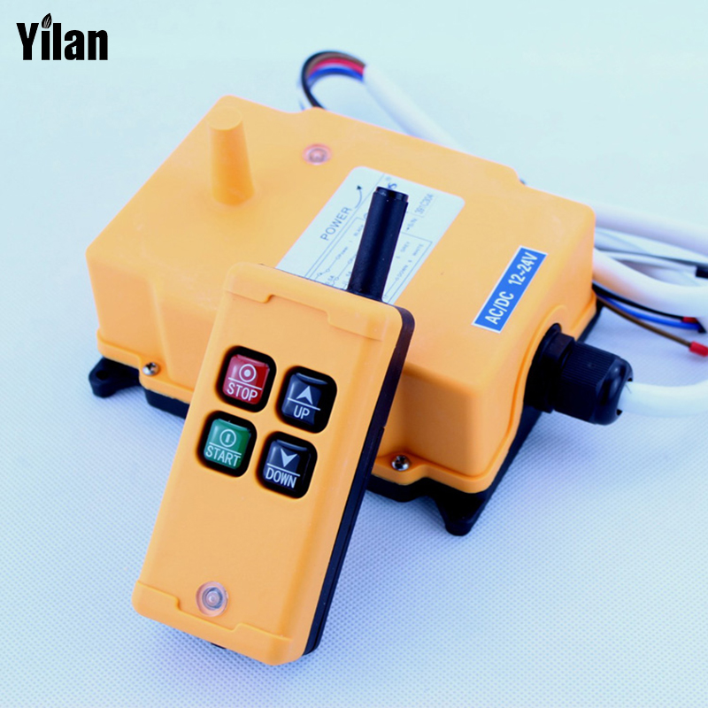 HS-4 Industrial Remote Control Switch 4 keys 1 receiver+ 1 transmitter AC 220V 220VAC 1 transmitter+ 1 receiver 1pcs hs 4 ac110v 4 keys control industrial remote controller 2 transmitter 1 receiver