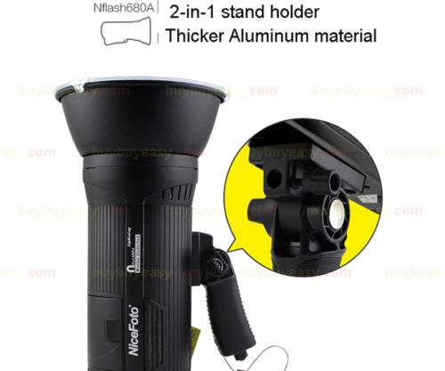 1200w 2 X 600w Portable Wireless Studio Flash Strobe Light Kit Nicefoto N680a Black Photographic Lighting 110v 220v In From