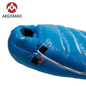 Image 5 - Уличный спальный мешок AEGISMAX G2 с белым гусиным пухом, ультралегкий спальный мешок для кемпинга в холодную зиму, с перегородкой, FP800