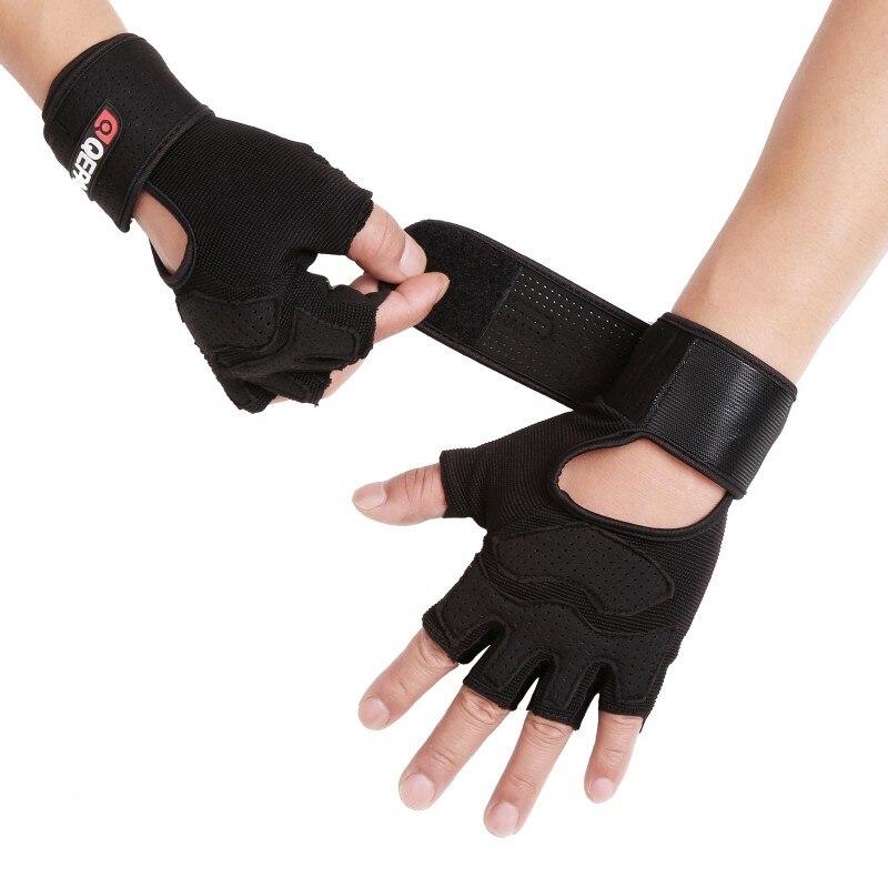 Outdoor Anti-Slip Riding Gloves Fitness Half Finger Black Gloves for Women Men Bike Gloves Skiing Motorcycle 4 Size