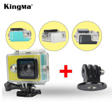KingMa Original Xiaomi Yi Waterproof Case, Mi Yi Action Camera 40M Diving Sports Waterproof Box, Xiaomi Yi Accessories Aksesoris