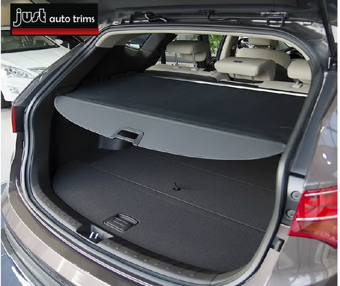 Black Rear Cargo Cover Trunk Screen For 2013 Hyundai Santa