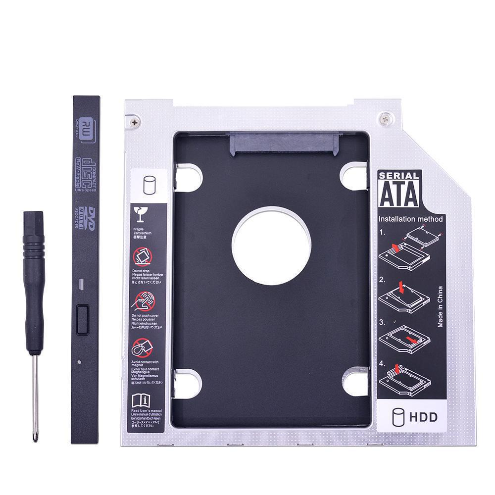 Aluminum Universal 2nd HDD Caddy 9.5mm 12.7mm SATA 3.0 Dual LED for 2.5 Hard Drive SSD Case Enclosure for Laptop CD-ROM Aluminum Universal 2nd HDD Caddy 9.5mm 12.7mm SATA 3.0 Dual LED for 2.5 Hard Drive SSD Case Enclosure for Laptop CD-ROM