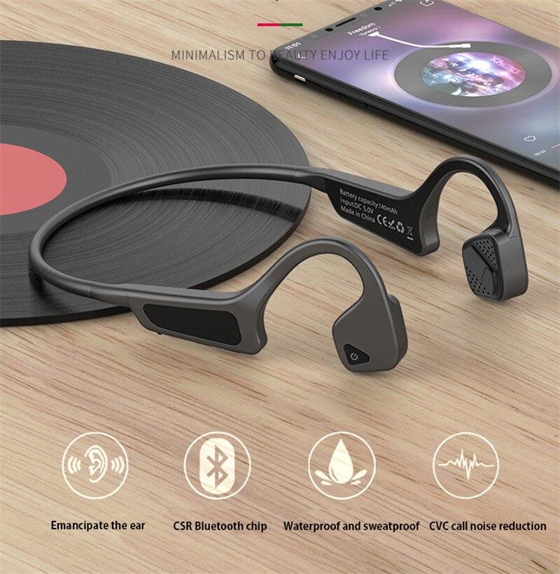 Casque sans fil à Conduction osseuse Bluetooth 5.0 pour LG G8 V40 V35 V30 ThinQ K40 K50 G7 Q9 casque pour écouteurs mobiles Sprots