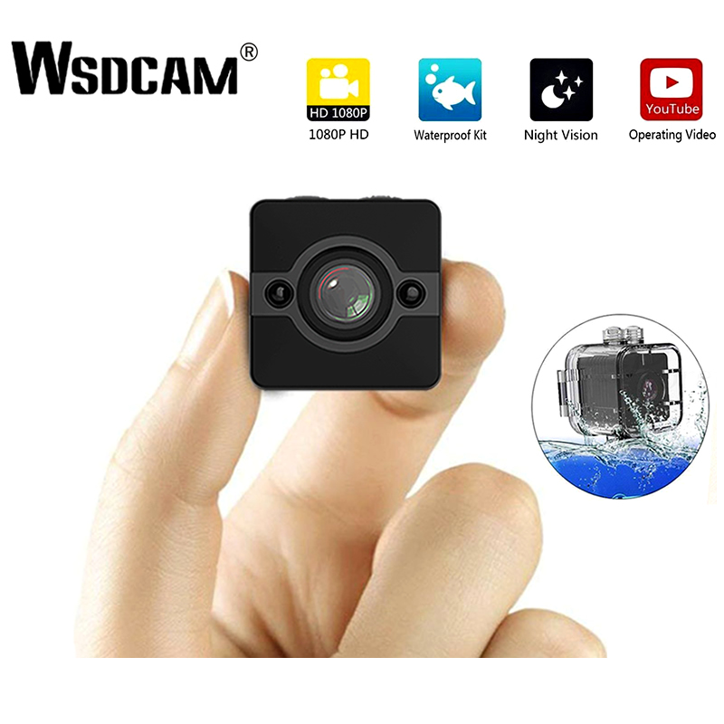 Wsdcam SQ12 Mini IP Camera HD 1080P Waterproof Wide-angle Lens Camcorder Sport DVR Infrared Night Vision Micro Cam Small Cameras